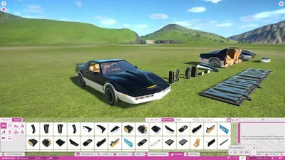 Planet Coaster - Knight Rider DLC Pack All Scenery Pieces!!