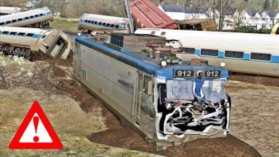 AMTRAK CRASH! - Amtrak collides with freight TRAIN😱❗