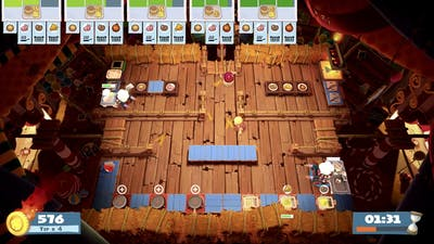 Overcooked 2 - Carnival of Chaos 1-3 (single player) Score: 1096