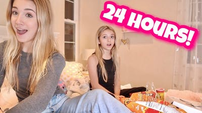 24 HOUR OVERNIGHT ROOM CHALLENGE!   JELLY DREAMS PIKMI POPS   QUINN SISTERS