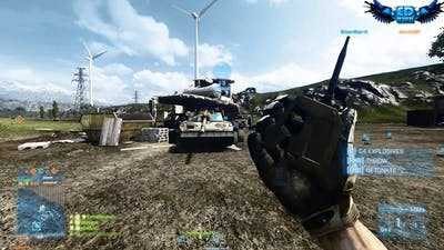 Battlefield 3 Quad Bike Distruction - Armored Kill Explosions