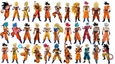 Evolution Of Goku All Forms (DBZ/DBS/DBGT/SDBH) | CharlieCaliph