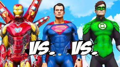 IRON MAN vs SUPERMAN vs GREEN LANTERN - Epic Superheroes Battle
