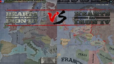 Hearts of Iron 3 VS Hearts of Iron 4 [Paradox Double Timelapse]