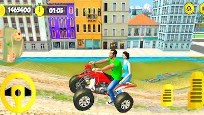 Mountain Dirt ATV Bike Taxi Driving Game | Dirt ATV Bike Racing Game | ATV Mountain Climb Taxi Game