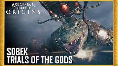 Assassin's Creed Origins | HOW TO EASILY DEFEAT SOBEK BOSS + LEGENDARY SWORD! - Trial of The Gods