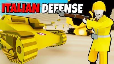Desperate ITALIAN ARMY Defensive Line! - Total Tank Simulator: Battle Simulator