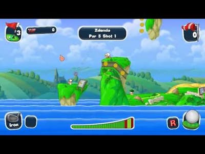 Me playing Worms: Crazy Golf for the first time