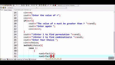 How to find number of Permutation and Combination in c++