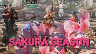 Sakura Season at Magnadin 《fun with clanmates》 9.4.2021 [LINEAGE 2 REVOLUTION]