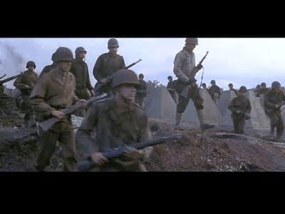 WW2 -  US army attack German Wehrmacht line