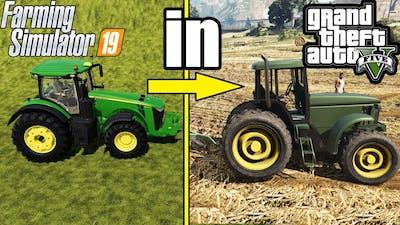 FARMING SIMULATOR 19 IN GTA V  : FARMING JOBS !!!