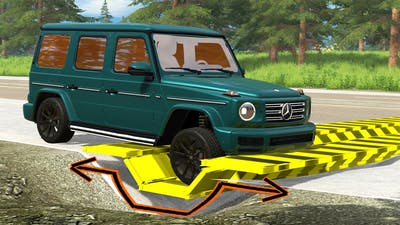 Cars vs Upside Down Speed Bumps - BeamNG Drive - 🔥 ULTIMATE Edition Compilation