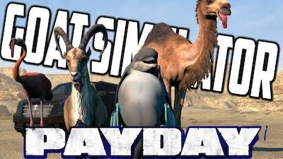 Goat Simulator - ROCKET CAR PERFECT LAUNCH (Payday DLC Gameplay)