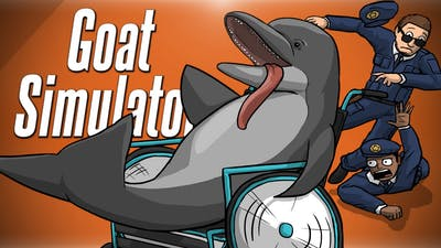 DOLPHIN IN A WHEELCHAIR!?! - Goat Simulator PayDay DLC
