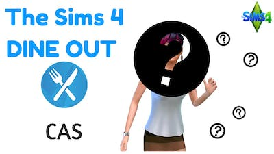 The Sims 4 DINE OUT: CAS (Watch me EXPLORE the Stuff in this Pack!)