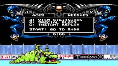 Mutant League Hockey Gameplay Sega Genesis/Mega Drive
