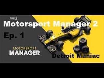 Motorsport Manager Mobile Ep. 1 New Driver?