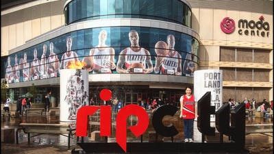 Our first NBA Portland Trail Blazers playoff game experience