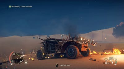 Mad Max Game: Floating Kid in Slow Motion While Attacked