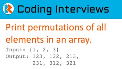 Print Permutations of elements of an array with no duplicates