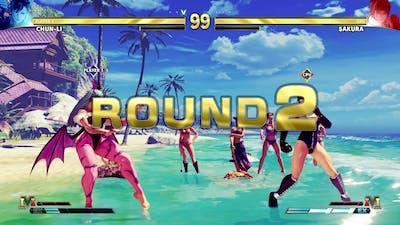 SFV PC Mod   Chunli Morrigan VS Sakura PGOutfit MOD😍