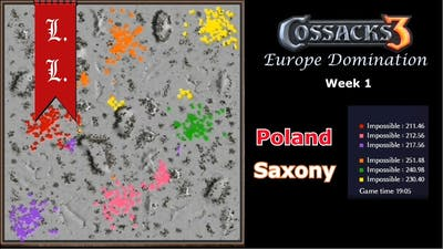 Europe Domination - Cossacks 3 tournament of Nations - Poland vs Saxony (Week 1)