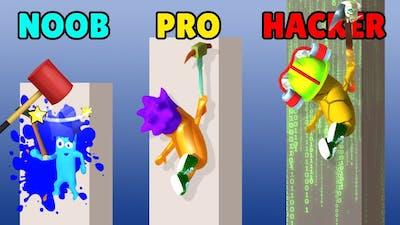 NOOB vs PRO vs HACKER in Bricky Fall
