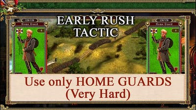 Cossacks 2  Battle for Europe - Win With Only HOME GUARDS (Very Hard)