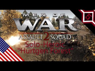 [men of war assault squad 2] USA campaign mission 1 - Solo(Heroic Ai)