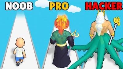 NOOB vs PRO vs HACKER in God Evolution