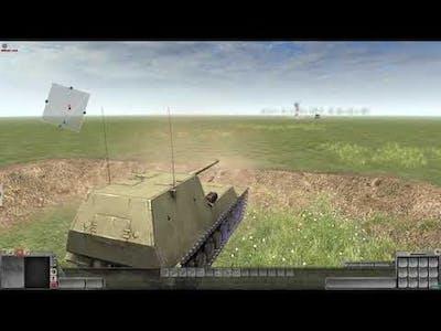 men of war as2 : Ho-ri 1 vs USA tank (wave)