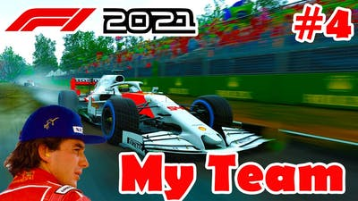 F1 2021 AYRTON SENNA MY TEAM CAREER MODE - EPISODE 4 - WET RACE IN CANADA!!! CAN WE IMPROVE???