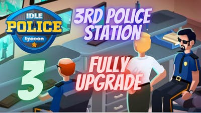 Idle Police Tycoon Gameplay - 1 Trillion$ - Full Upgraded Police Station (PALM SHORES)