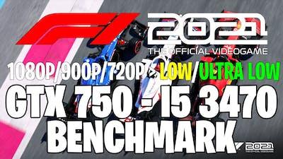 F1 2021   GTX 750 1GB - i5 3470  