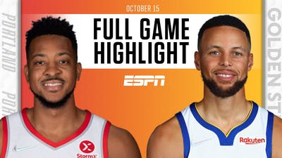 Portland Trail Blazers at Golden State Warriors | Full Game Highlights