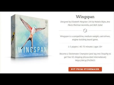 Walkthrough for Wingspan by Stonemaier Games!