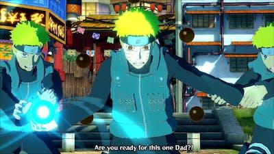 Jonin Naruto Uzumaki True Rasengan vs Father Minato - Naruto Ultimate Ninja Storm 4 Road to Boruto