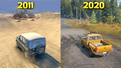 Evolution of Best Offroad First Game Spintires 2011 to SnowRunner 2020