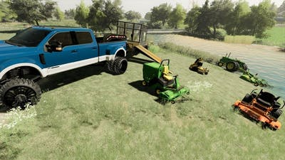 Lawn business is busy after tons of rain   Farming Simulator 19