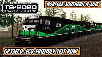 Train Simulator 2020: Norfolk Southern N-Line - GP33ECO - Stormy Test Run