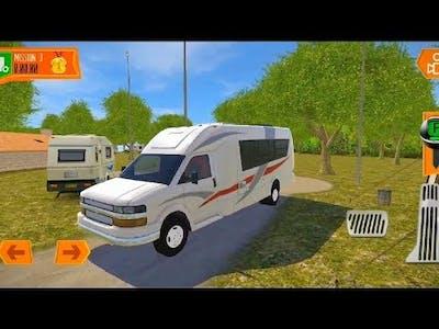 Camper Van  Beach Resort   Realistic Driving Game #1   ANDROID VIDEO GAME