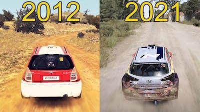Evolution of WRC FIA World Rally Championship Games 2012-2021