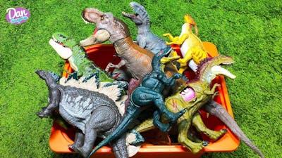 MEGA BOX OF DINOSAUR TOYS for Kids! Jurassic World Toys! Indoraptor, Albertosaurus, Concavenator
