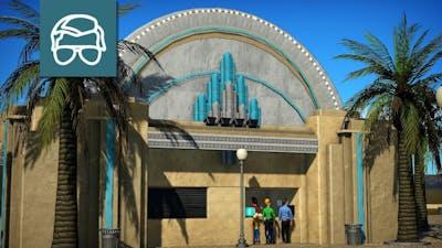 Customer Service Building - Jollywood Studios - Planet Coaster Speed Build - 3