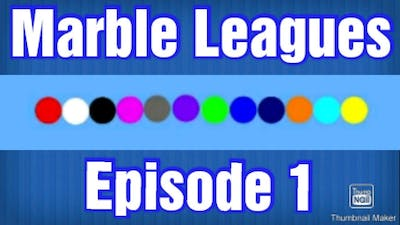 Marble League Episode 1   Marble League Marble Race (MLMR) In Algodoo
