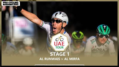 UAE TOUR 2021 - STAGE 1 | PRO CYCLING MANAGER 2020
