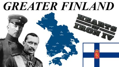 GREATER FINLAND - Hoi4 Gameplay Timelapse