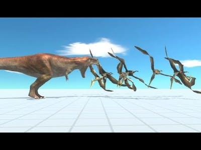 NEW Flying Pteranodon Attack vs Scary TREX Dinosaur - Animal Revolt Battle Simulator DDC