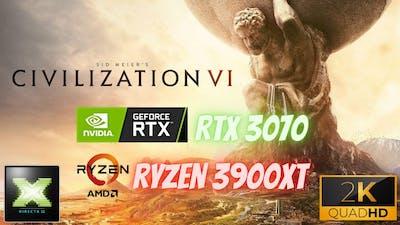 Sid Meier's Civilization VI: Benchmark DX11 RTX3070+R3900XT